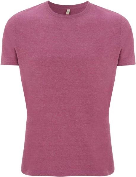 Recycled T-Shirt aus Baumwolle und Polyester - melange plum