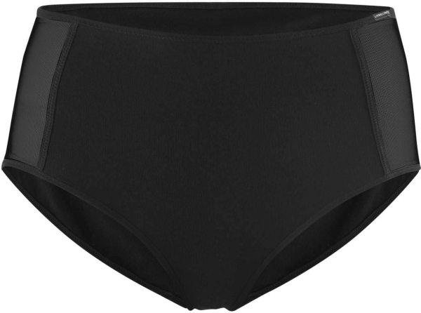 Taillen-Slip mit Netzeinsatz aus Bio-Baumwolle - black
