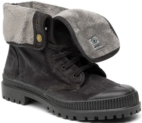 Bota Cuello - Schuhe aus Bio-Baumwolle - negro enzimatico - Bild 1