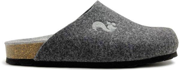 Filz Clogs aus recyceltem PET - dunkelgrau