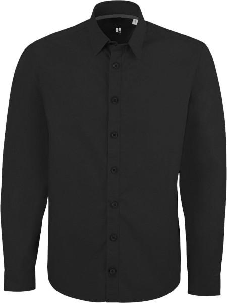 Herrenhemd schwarz aus Bio-Baumwolle (Stanley Impresses)