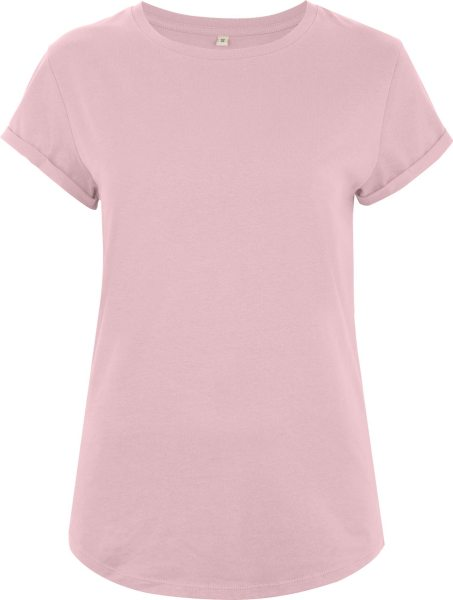 Organic Rolled Sleeve T-Shirt - purple rose