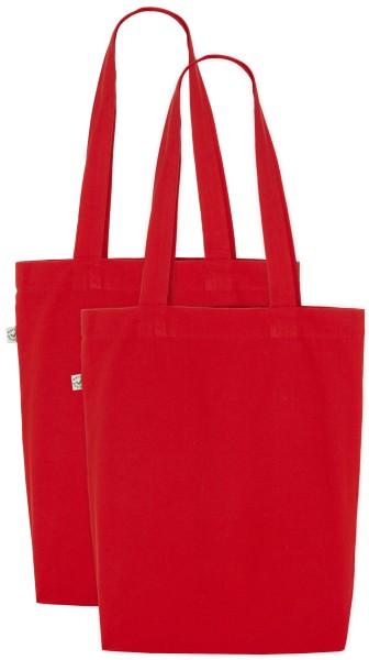 Organic Shopper Bag - rot 2er-Pack