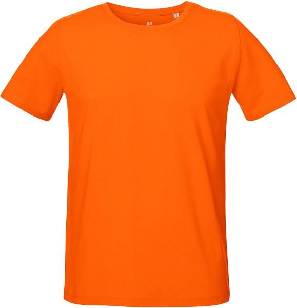 Unisex T-Shirt mit Seitenschlitzen - bright orange