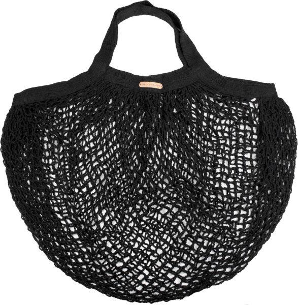 Kleine Netztasche aus Bio-Baumwolle - 36x40cm - black