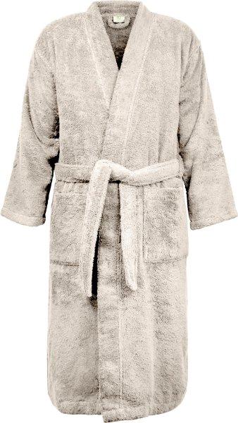 Frottee Kimono-Bademantel aus Bio-Baumwolle - beige