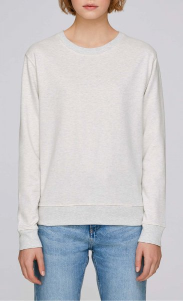 Hides - Sweater aus Biobaumwolle - cream heather grey - Bild 1