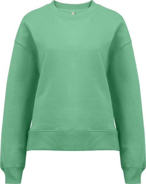 Schweres Sweatshirt aus Biobaumwolle - sage green