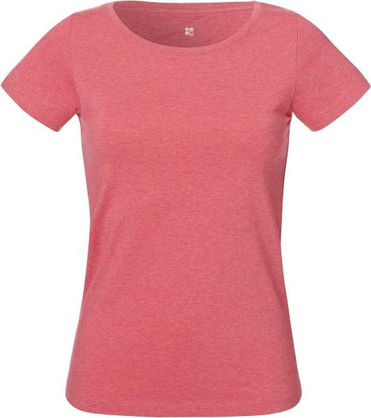 T-Shirt aus Bio-Baumwolle - heather cranberry