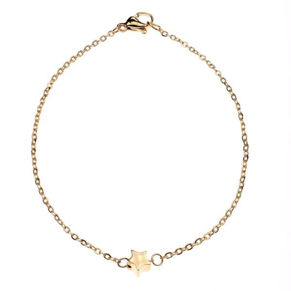 Armband mit Stern-Anhänger – vergoldet