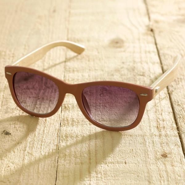 Trento - Sonnenbrille aus recyl. Kunststoff & Bambus - terra - Bild 1
