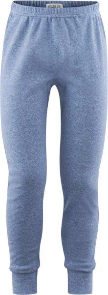 Kinder Lange Unterhose aus Bio-Baumwolle - blue melange
