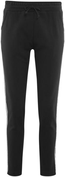 Hose mit Kontraststreifen aus Biobaumwolle - black