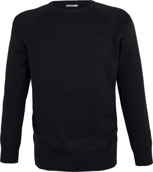 Strickpullover aus Bio-Baumwolle - schwarz