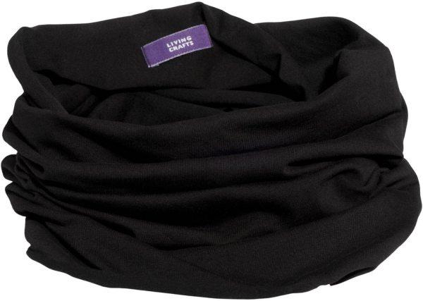 Multifunktionstuch aus Bio-Baumwolle - black