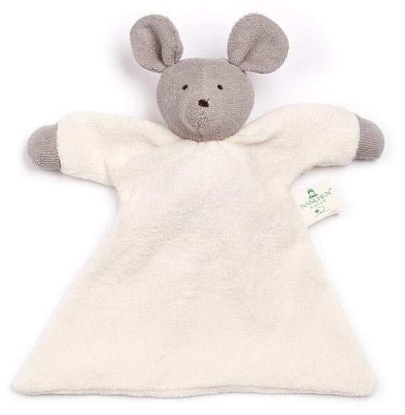 Nuckeltier Maus Schmusepuppe/Tuch aus Bio-Baumwolle - Bild 1