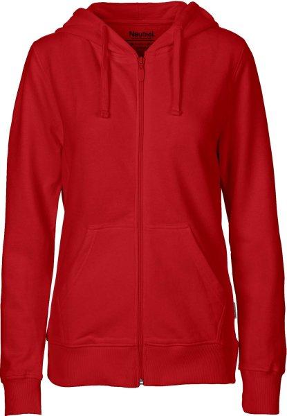 Zip-Up Hoodie aus Fairtrade Bio-Baumwolle - red