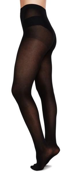 Stina Premium Tights - Strumpfhose aus Bio-Baumwolle - black