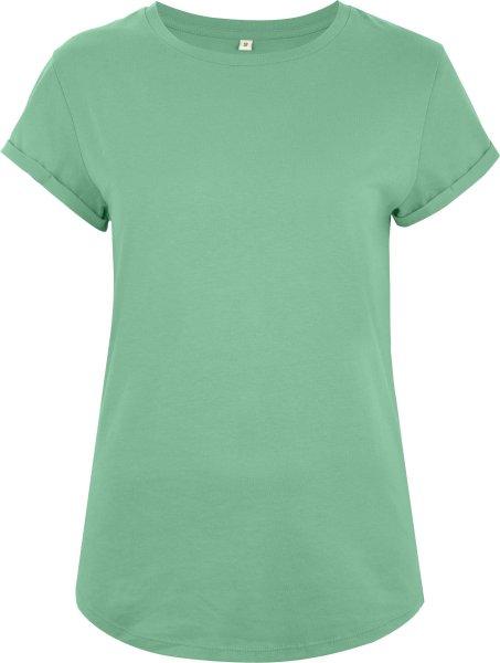 Organic Rolled Sleeve T-Shirt - sage green