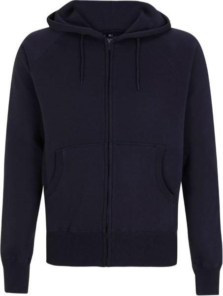 Zip-Through Hooded Sweatshirt - navy