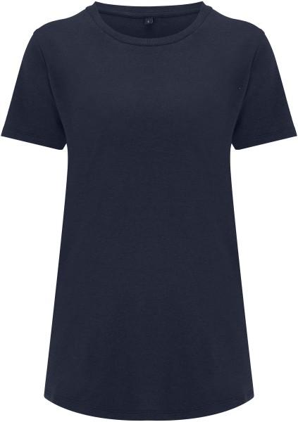 Ecovero T-Shirt aus Viskose und Bio-Baumwolle - navy