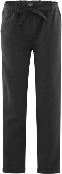 Hose aus Bio-Leinen und Bio-Baumwolle - black