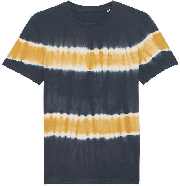 Batik T-Shirt aus Bio-Baumwolle - tie&dye india ink grey