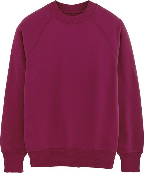 Sweatshirt mit hohem Halsabschluss aus Bio-Baumwolle - purple LED