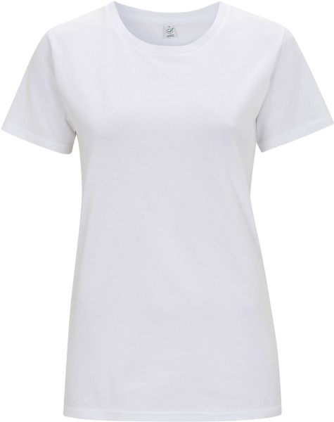 Damen T-Shirt weiss Earth Positive EP02