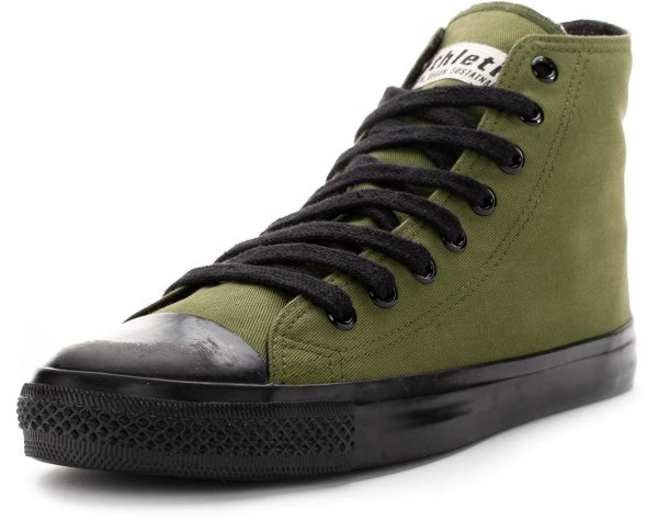 Fair Trainer Black Cap Hi Cut - camping green/jet black