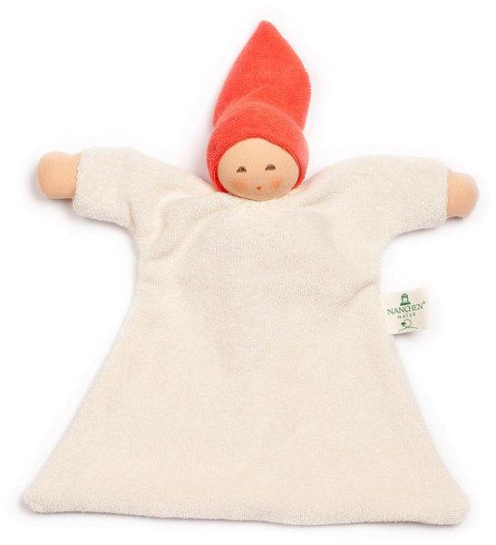 Nuckel Schmusepuppe/Tuch aus Bio-Baumwolle - rot - Bild 1