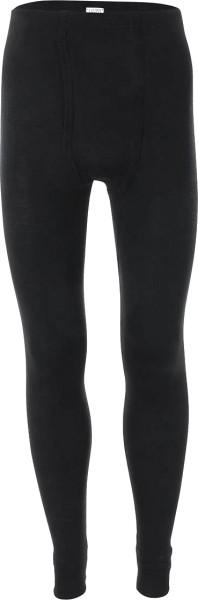 Lange Herrenunterhose aus Wolle und Seide schwarz