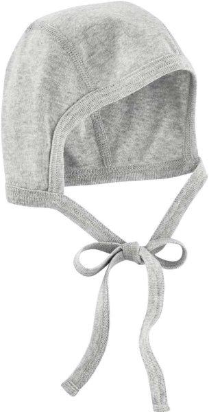 Baby Mützchen aus Bio-Baumwolle - grey melange