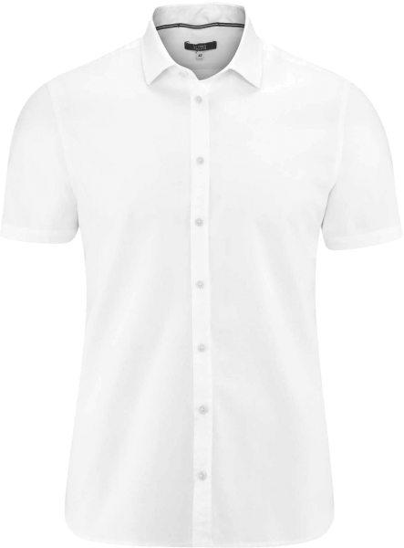 Kurzarm-Hemd aus Bio-Baumwolle - white
