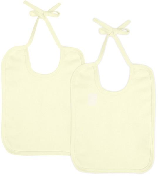 Baby Lätzchen aus Bio-Baumwolle Doppelpack - ecru