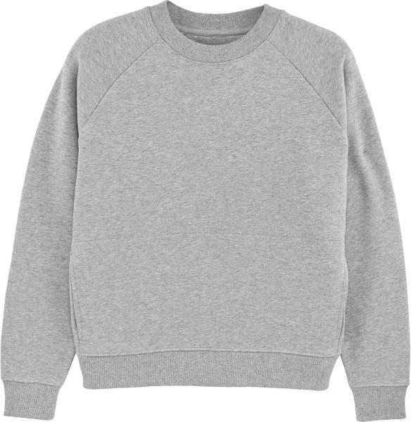 Kurzes Raglan-Sweatshirt aus Bio-Baumwolle - heather grey
