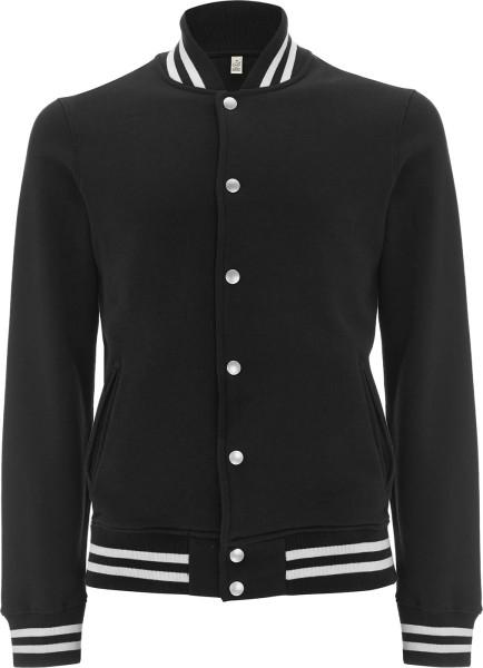 Varsity Jacket - College-Jacke aus Biobaumwolle - schwarz/weiss - Bild 1