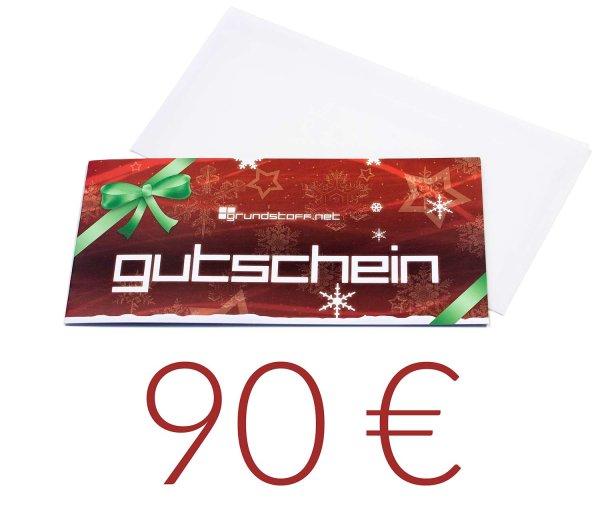 90,- EUR Geschenkgutschein - Weihnachtsdesign