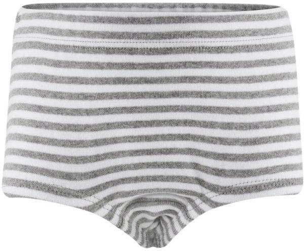 Kinder Mädchen Panty aus Biobaumwolle - grey/white striped - Bild 1