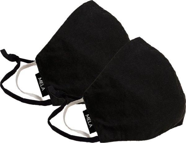 Fairtrade Behelfsmaske aus Bio-Baumwolle - 2er-Pack - schwarz