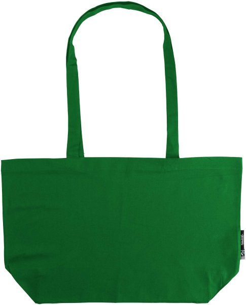 Organic Shopping Bag - breit mit langem Hänkel - Fairtrade grün - Bild 1