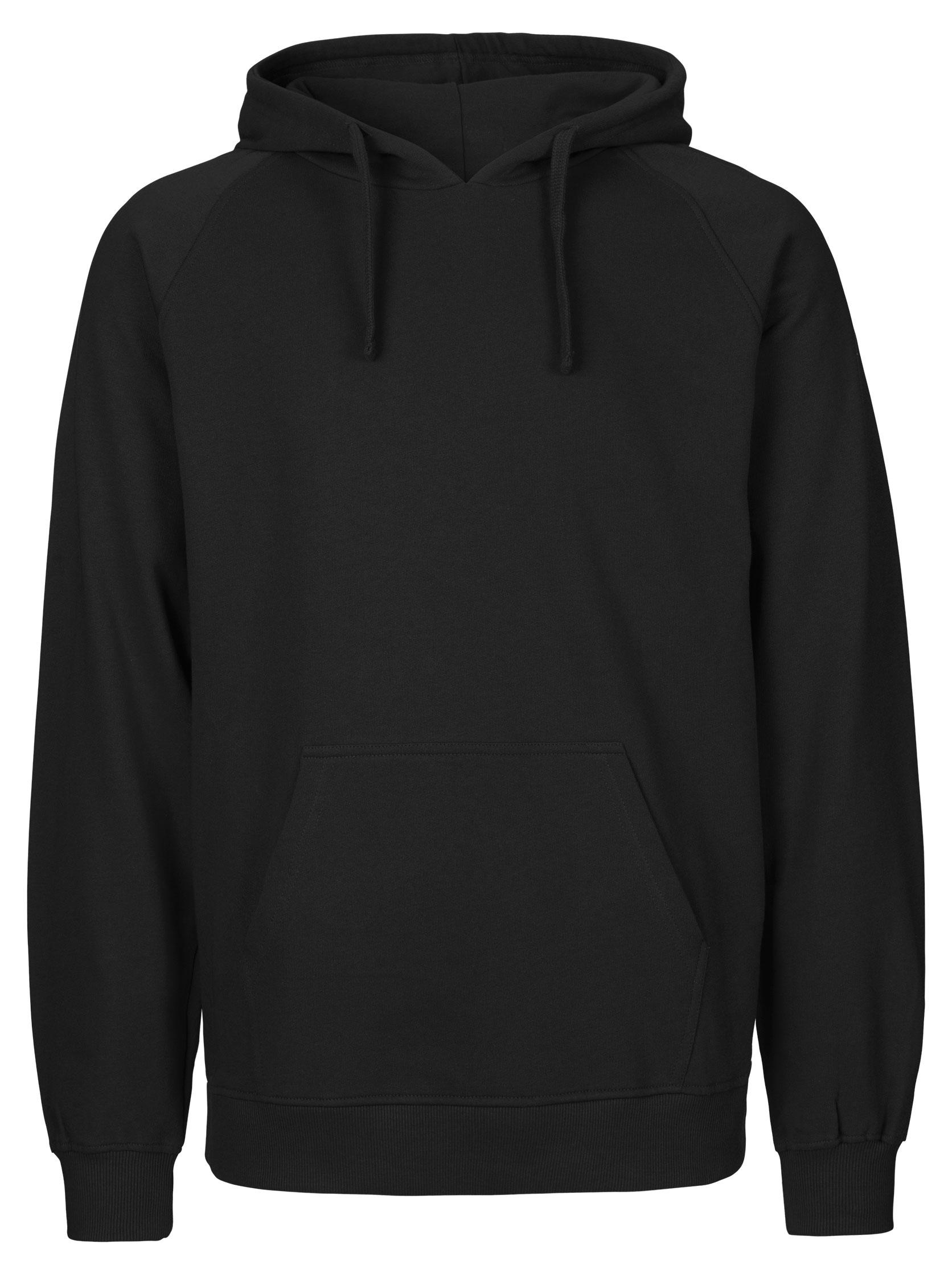 Schwarzen Hoodie mit Neon Aufdruck