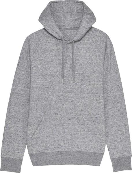 Raglan-Hoodie aus Bio-Baumwolle - slub heather grey