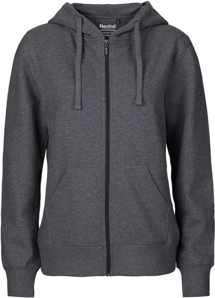 Zip-Up Hoodie aus Fairtrade Bio-Baumwolle - dark heather
