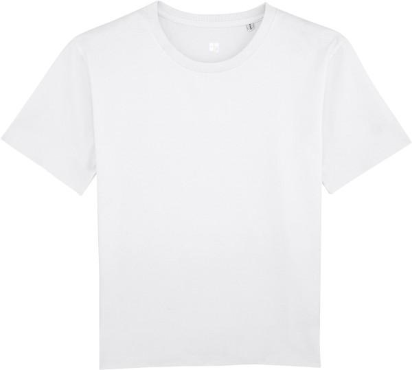 Kastenförmiges T-Shirt Bio-Baumwolle - white
