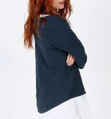 Varies Slub - Sweatshirt aus Bio-Baumwolle - french navy - Bild 1