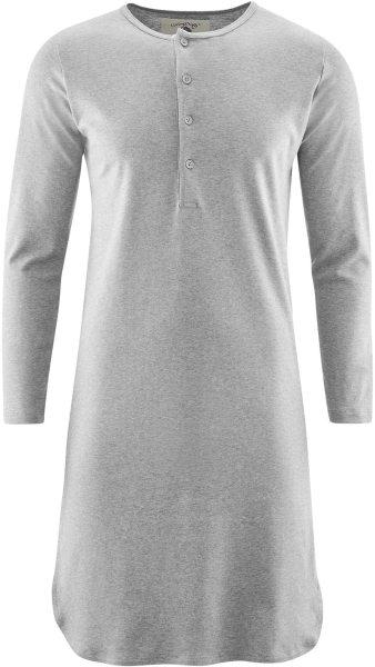 Retro-Nachthemd Bio-Baumwolle grau meliert Living Crafts