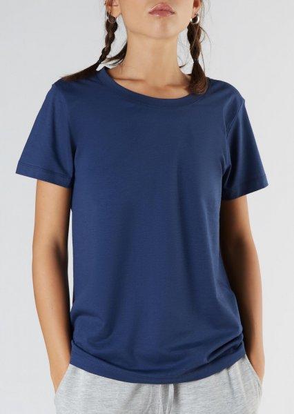 Active T-Shirt aus Bio-Baumwolle & Modal - navy