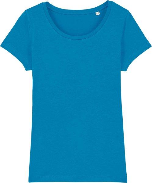 Jersey-Shirt aus Bio-Baumwolle - azur