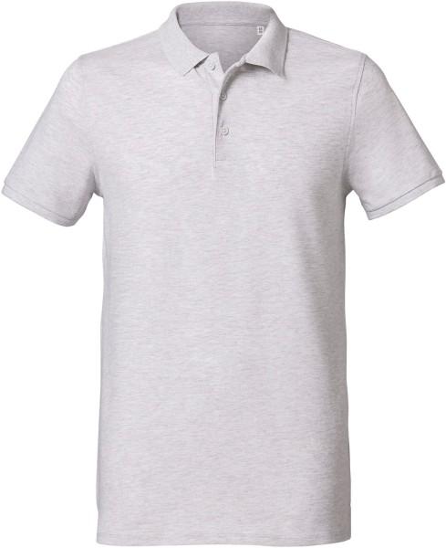 Klassisches Poloshirt aus Bio-Baumwolle - heather ash